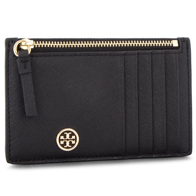 best sneakers d6356 6b08c Credit Card Holder TORY BURCH - Robinson Slim Card Case 50211 Black 001
