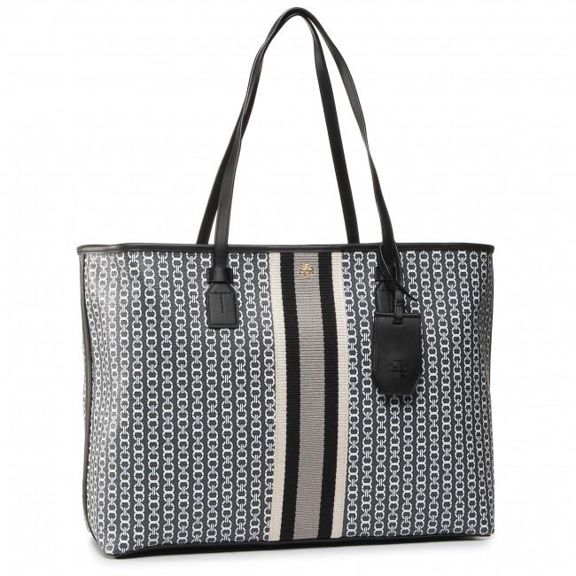 Handbag TORY BURCH - Gemini Link Canvas Top-Zip Tote 58450 Black Gemini Link 892