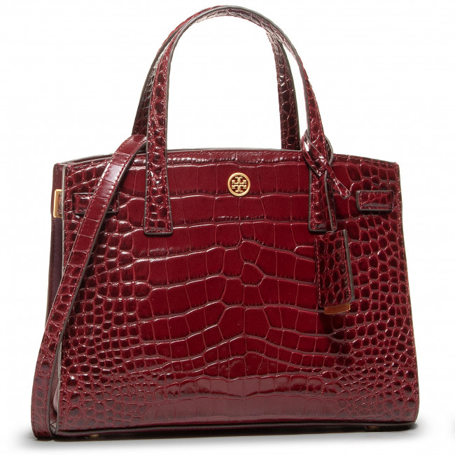 Handbag TORY BURCH - Walker Embossed 74603 Claret