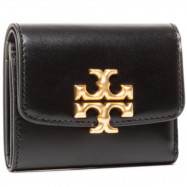 Small Women's Wallet TORY BURCH - Elenor Compact Wallet 73519 Black 001