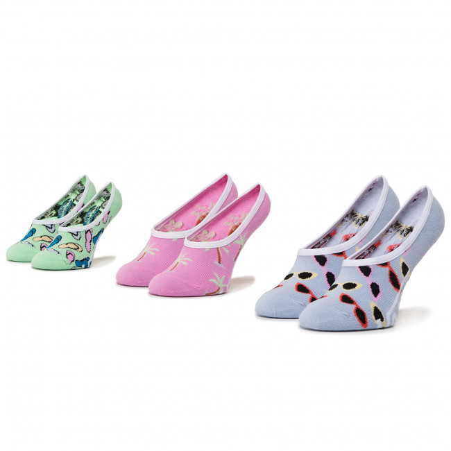 3 Pairs of Kids' Footsies VANS - Brand Striper Canoodles VN0A4DS24481 r.31.5-36 Multi