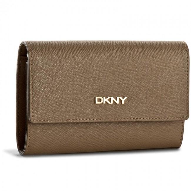Large Women's Wallet DKNY - Bryant Park Saffian R1621105 Khaki 251