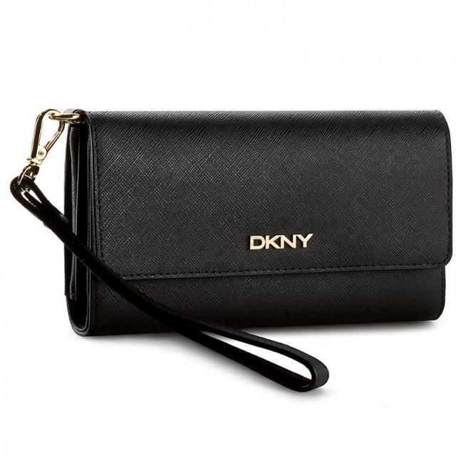 Large Women's Wallet DKNY - Bryant Part Saffian R1621106 Black 001