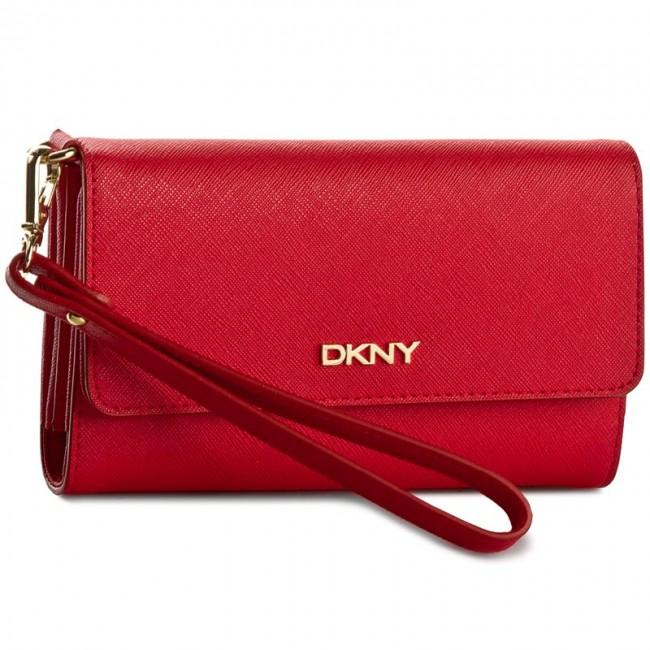 Large Women's Wallet DKNY - Bryant Park Saffian R1621106 Vermillion 826