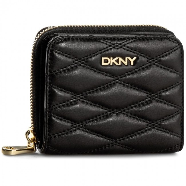 Small Women's Wallet DKNY - Gansevoort Quilted Nappa R1621701 Black 001