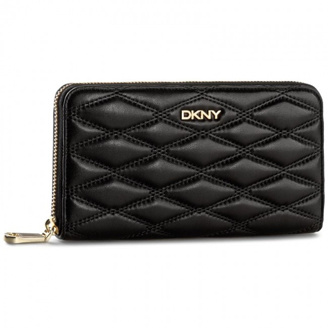 Large Women's Wallet DKNY - Gansevoort Quilted Nappa R1621705 Black 001