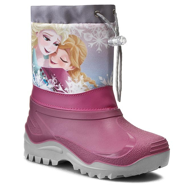 Snow Boots FROZEN - 32-468DFR Różowy Ciemny