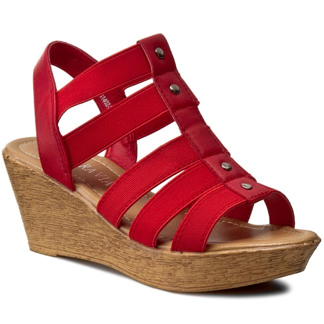 Sandals VIA RAVIA - WS1402-2 Red