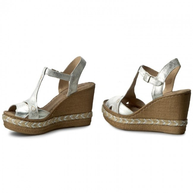 espadrilles quazi f846 silver espadrilles mules and sandals women 39 s shoes. Black Bedroom Furniture Sets. Home Design Ideas