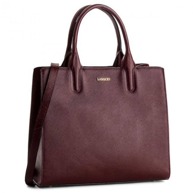Handbag LASOCKI - BRT-012A Dark Red