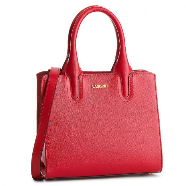 Handbag LASOCKI - BRT-020A Red