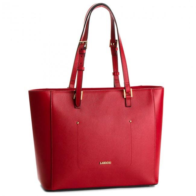 Handbag LASOCKI - BRT-025 Red