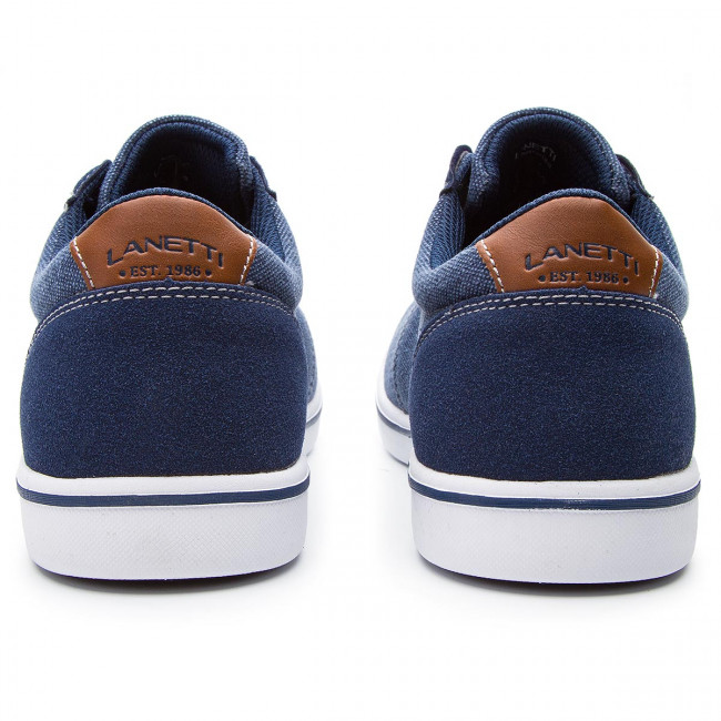 Sneakers LANETTI - MP07-17136-02 Jeans - Sneakers - Low shoes - Men's shoes