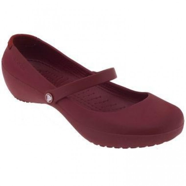 Flats CROCS - Alice Work 11050 Ruby