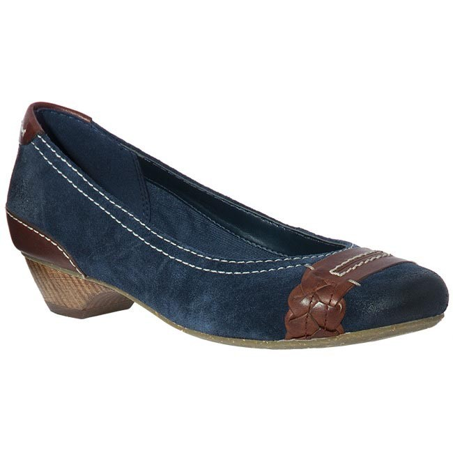 Shoes CLARKS - 20343453 Genova Alpine Navy Suede Blue