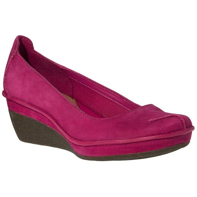 Shoes CLARKS - 20342880 Forest Lagoon Raspberry Nubuck Pink