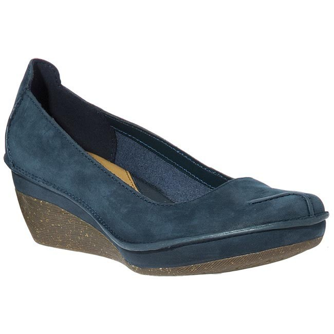 Shoes CLARKS - 20342878 Forest Lagoon Navy Nubuck Blue Pink