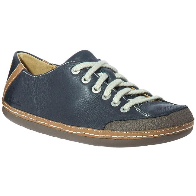 Shoes CLARKS - 20339619 Mass Energy Navy Leather Blue