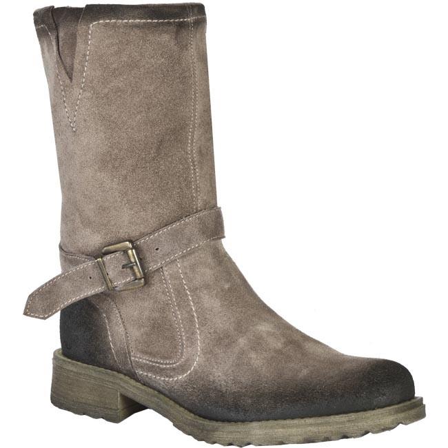 Knee High Boots SAGAN - 1715 Brown Grey