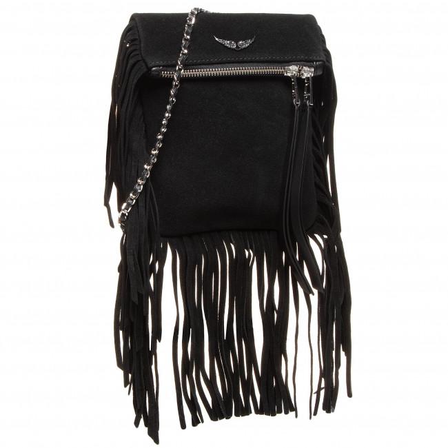 Handbag ZADIG&VOLTAIRE - Rockson Nano Fringes WJAP2039F  Black