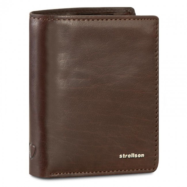 Large Men's Wallet STRELLSON - Jefferson 4010001302 Dark Brown 702