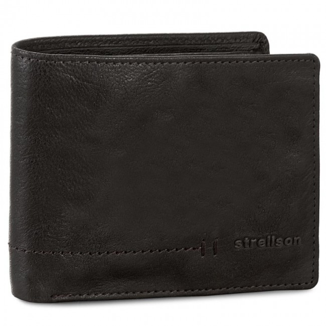 Large Men's Wallet STRELLSON - Coleman 4010001912 Dark Brown 702