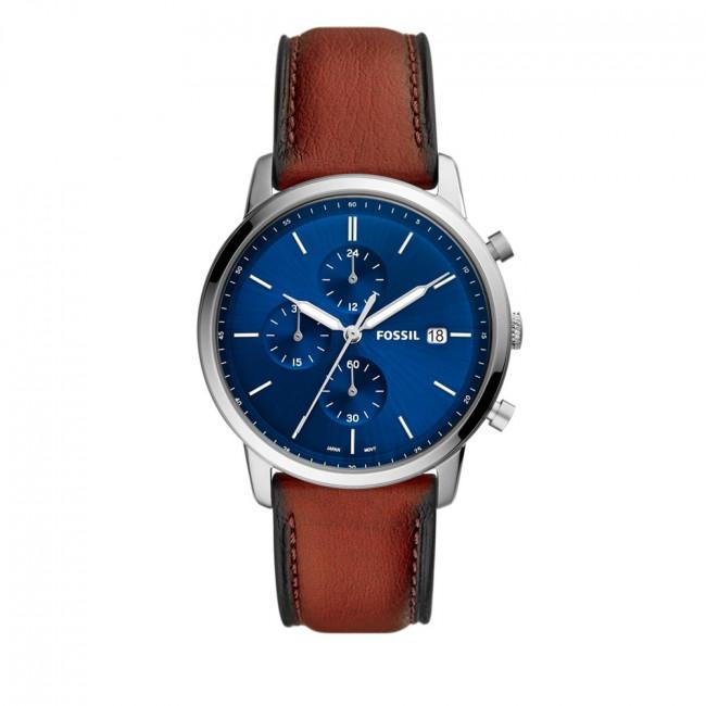Wristwatch FOSSIL - Minimalist Chrono FS5850 Brown/Silver