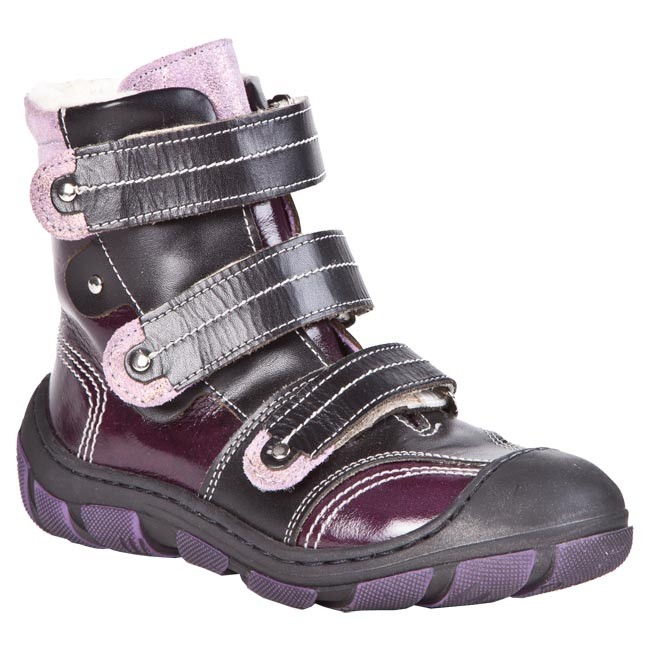 Boots ANTYLOPA - 657/2 Black Purple