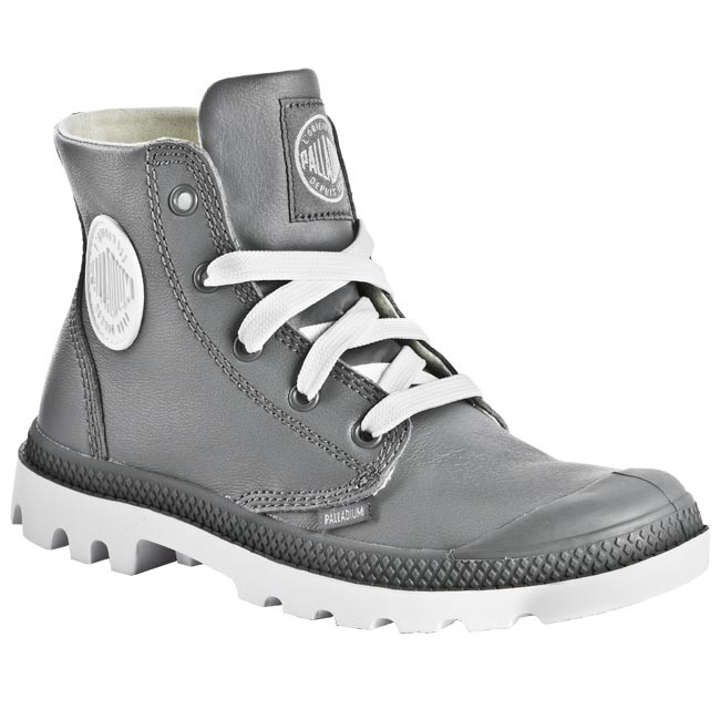 autumn shoes hot new products great fit Hiking Boots PALLADIUM - Blanc Hi Lea 72901044 Grey