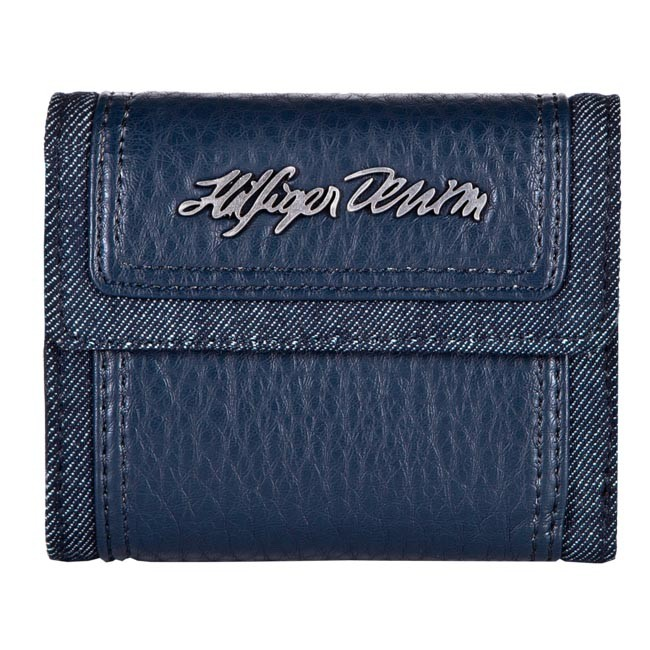 Small Women's Wallet TOMMY HILFIGER - DENIM Winter Small Trifold EL56917390 859