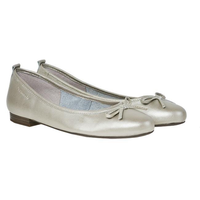 flats tamaris 1 22122 20 light gold 948 ballerina shoes low shoes women 39 s shoes www. Black Bedroom Furniture Sets. Home Design Ideas