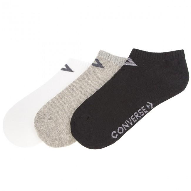 3 Pairs of Women's High Socks CONVERSE - E751A-3009 Black Grey White