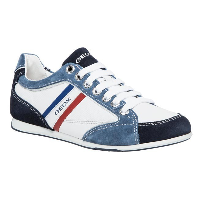 Interpretación Anotar Fonética  Shoes GEOX - U Andrea P U01Z2P 02246 C1965 Ice/Blue - Sneakers - Low shoes  - Men's shoes | efootwear.eu