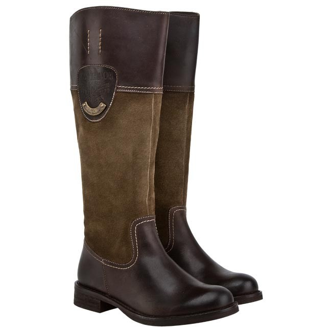 knee high boots tom tailor 439400100 brown taupe