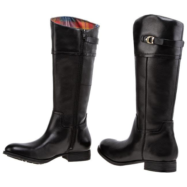 black high heel boots for kids