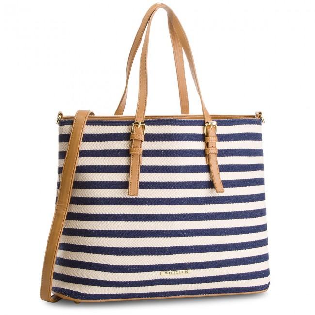 Handbag WITTCHEN - 86-4Y-421-X01 Beige Navy Blue
