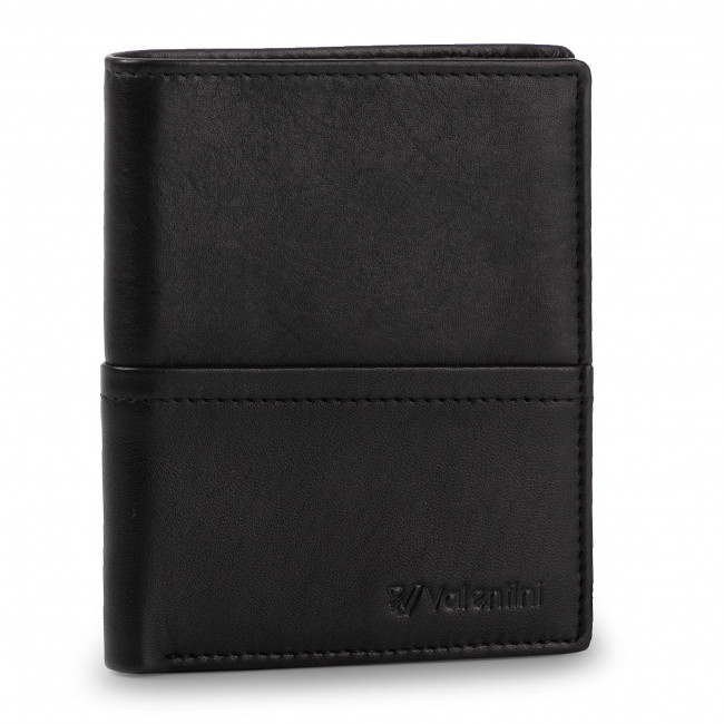 Large Men's Wallet VALENTINI - 154-115 Black/F.Red