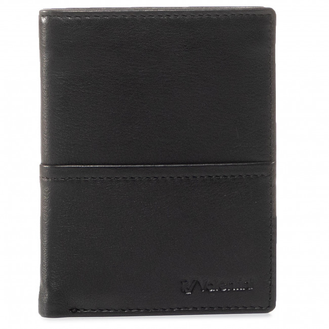 Large Men's Wallet VALENTINI - 154-265 Black/F.Red