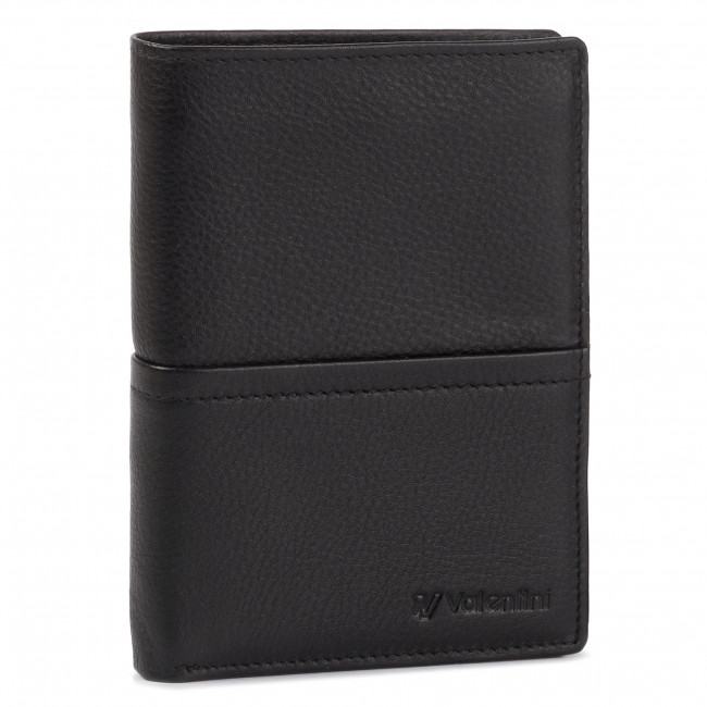 Large Men's Wallet VALENTINI - 154-467 Black/F.Red