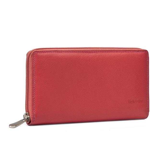 Large Women's Wallet VALENTINI - 123-866 Lipstick Pink