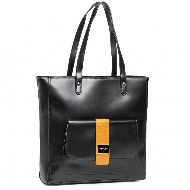 Handbag MONNARI - BAG5400-M20 Black/Orange