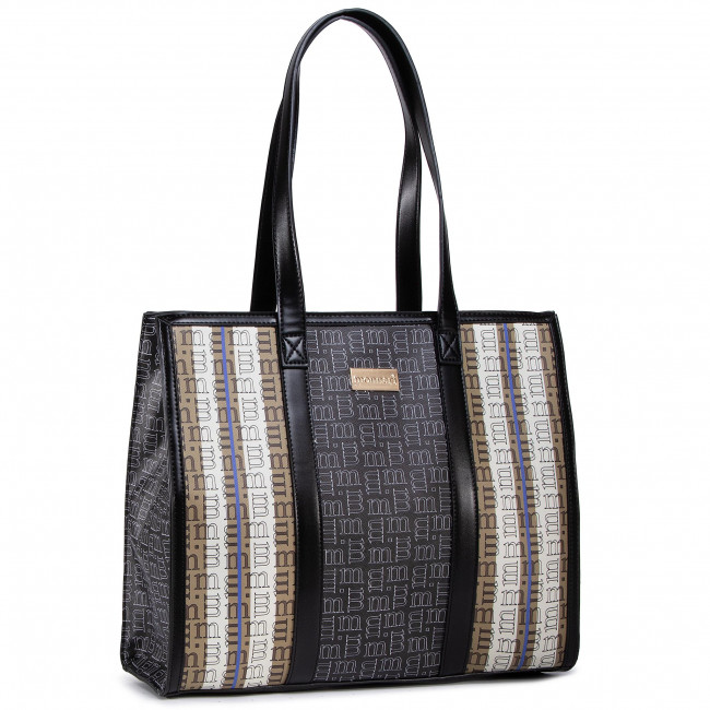 Handbag MONNARI - BAG7210-M20 Beige With Blk With Navy With Patt