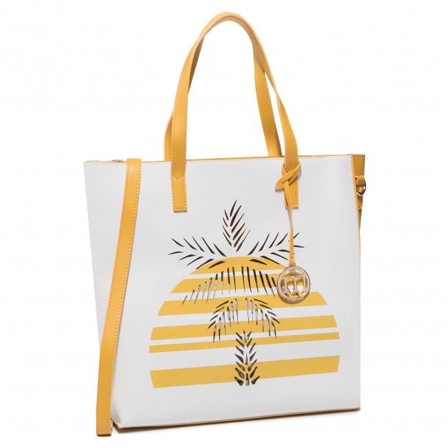 Handbag MONNARI - BAG1800-000 White With Yellow