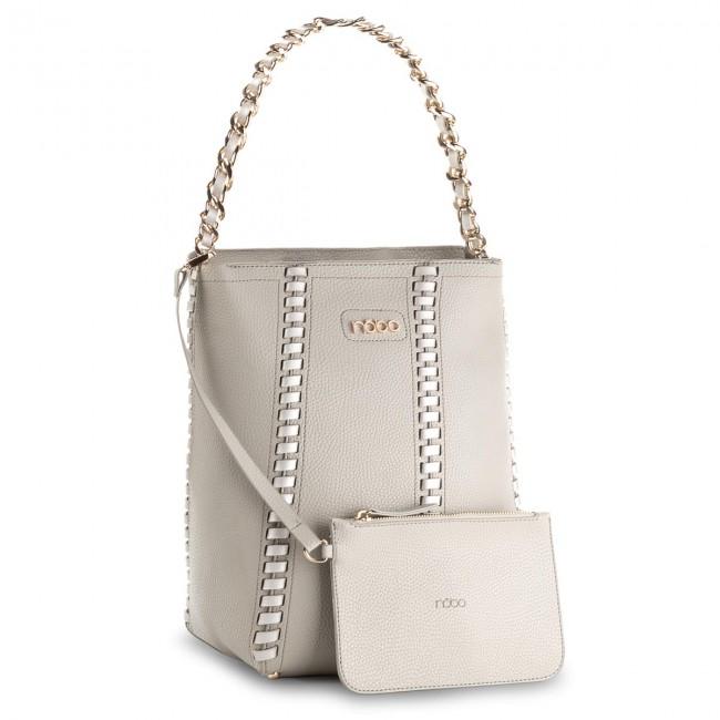 Handbag NOBO - NBAG-C4170-C022 Szary Z Srebrnym