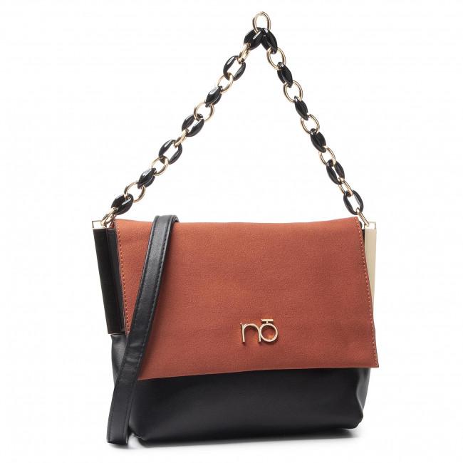 Handbag NOBO - NBAG-H0870-CM20 Czarny Z Pomarańczowym