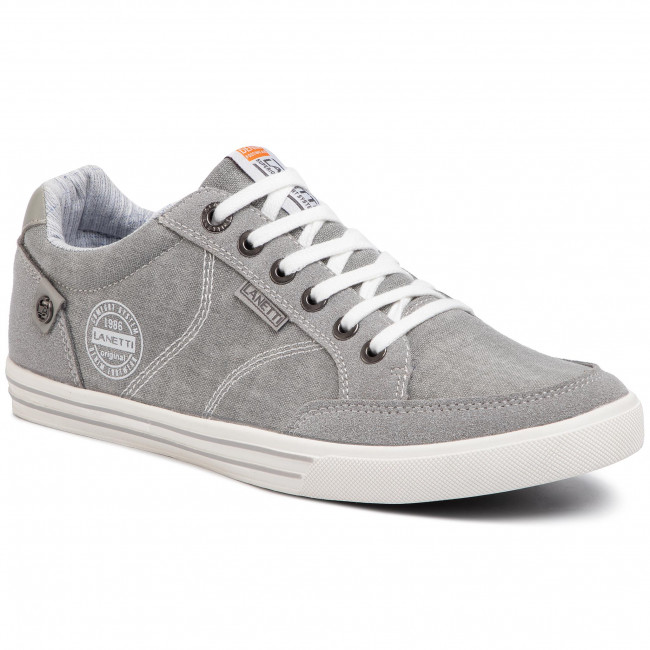 Plimsolls LANETTI - MP07-17066-02 Grey