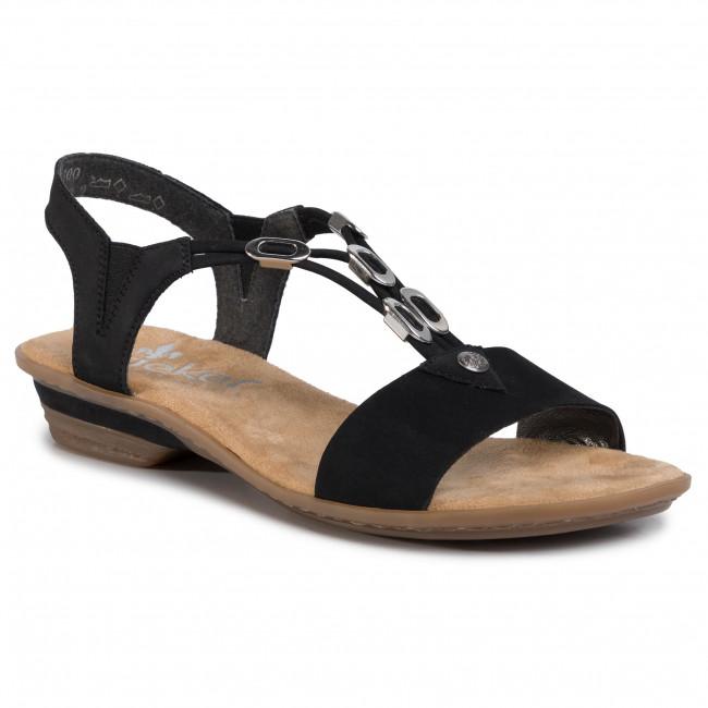 Rieker 63453 00 Ladies Black Sling Back Sandals Rieker