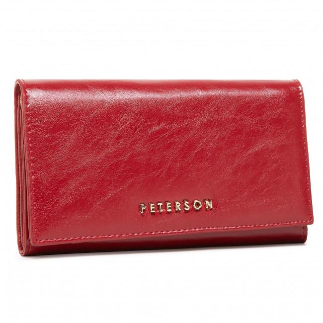 Large Women's Wallet PETERSON - PL466 Red