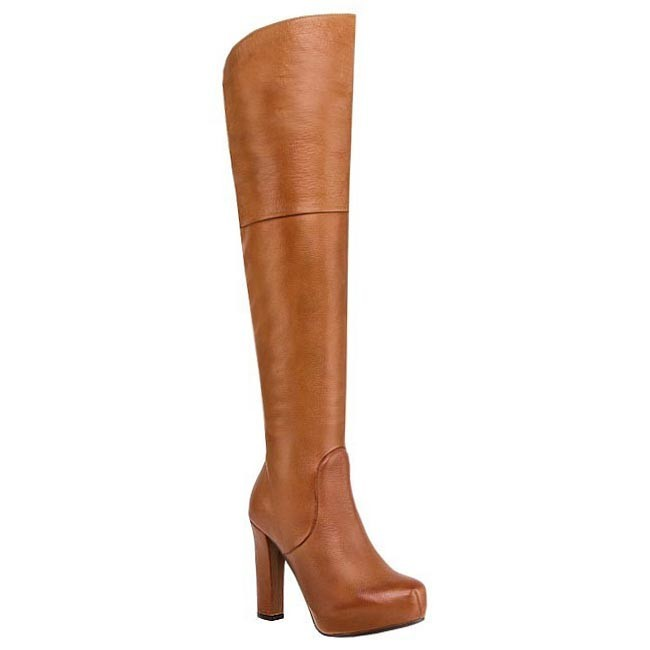 Over-Knee Boots SOLO FEMME - 13203-01-C63/000-01-00 Cuoio