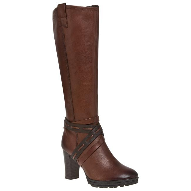 Knee High Boots CAPRICE - 9-25507-21 Brown